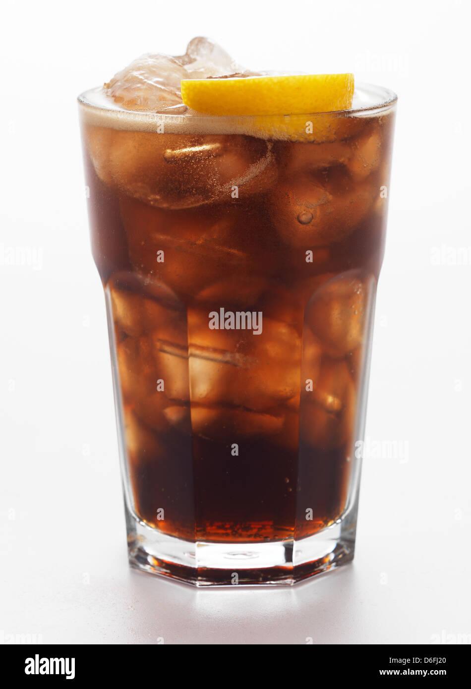 Coca Cola in glass - Stock Image