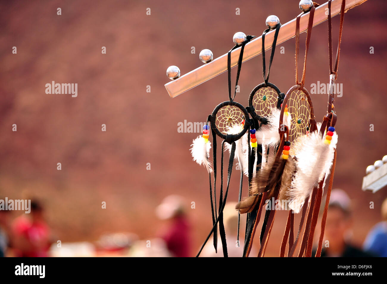 Indian dreamcatcher in reserve - Stock Image