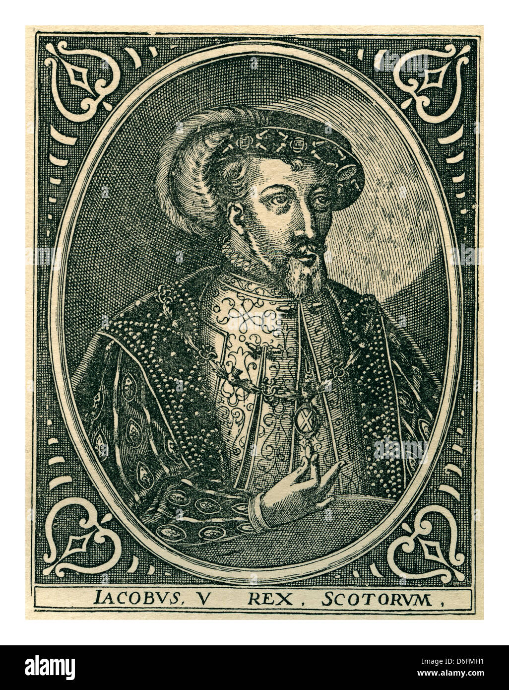 James V (10 April 1512 – 14 December 1542) was King of Scots from 9 September 1513 until his death in1542 - Stock Image