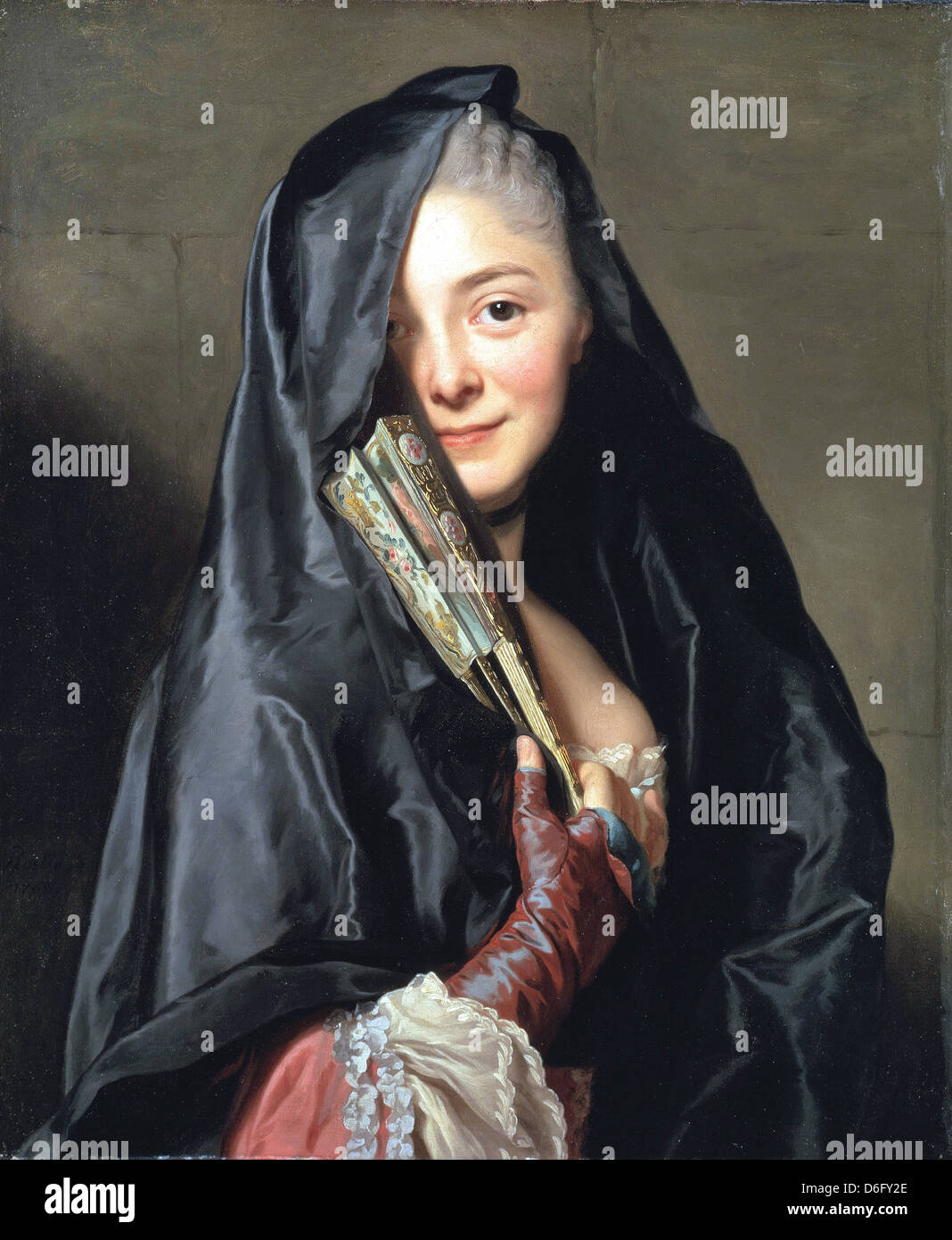 Alexander Roslin, The Lady with the Veil (the Artist's Wife) 1768 Oil on canvas. Nationalmuseum, Stockholm, - Stock Image