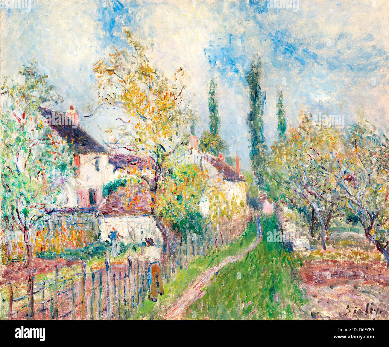 Alfred Sisley, A path at Les Sablons 1910 Oil on canvas. National Gallery of Australia, Canberra - Stock Image