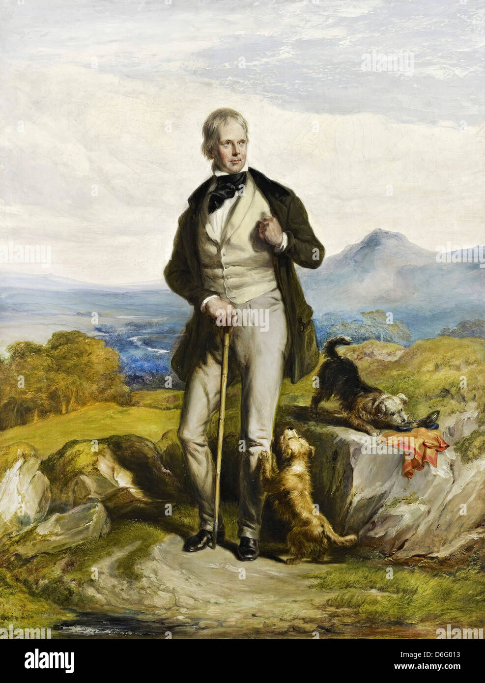Sir William Allan, Sir Walter Scott, 1771 - 1832. Novelist and poet 1844 Oil on canvas. National Gallery of Scotland, - Stock Image