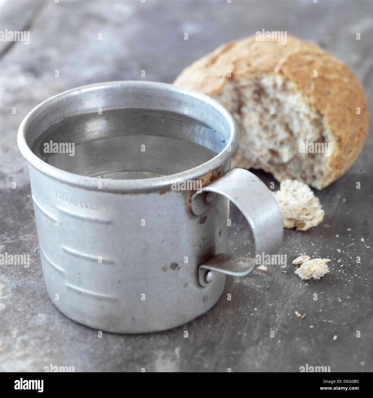 Bread And Water Diet Stock Photo Alamy