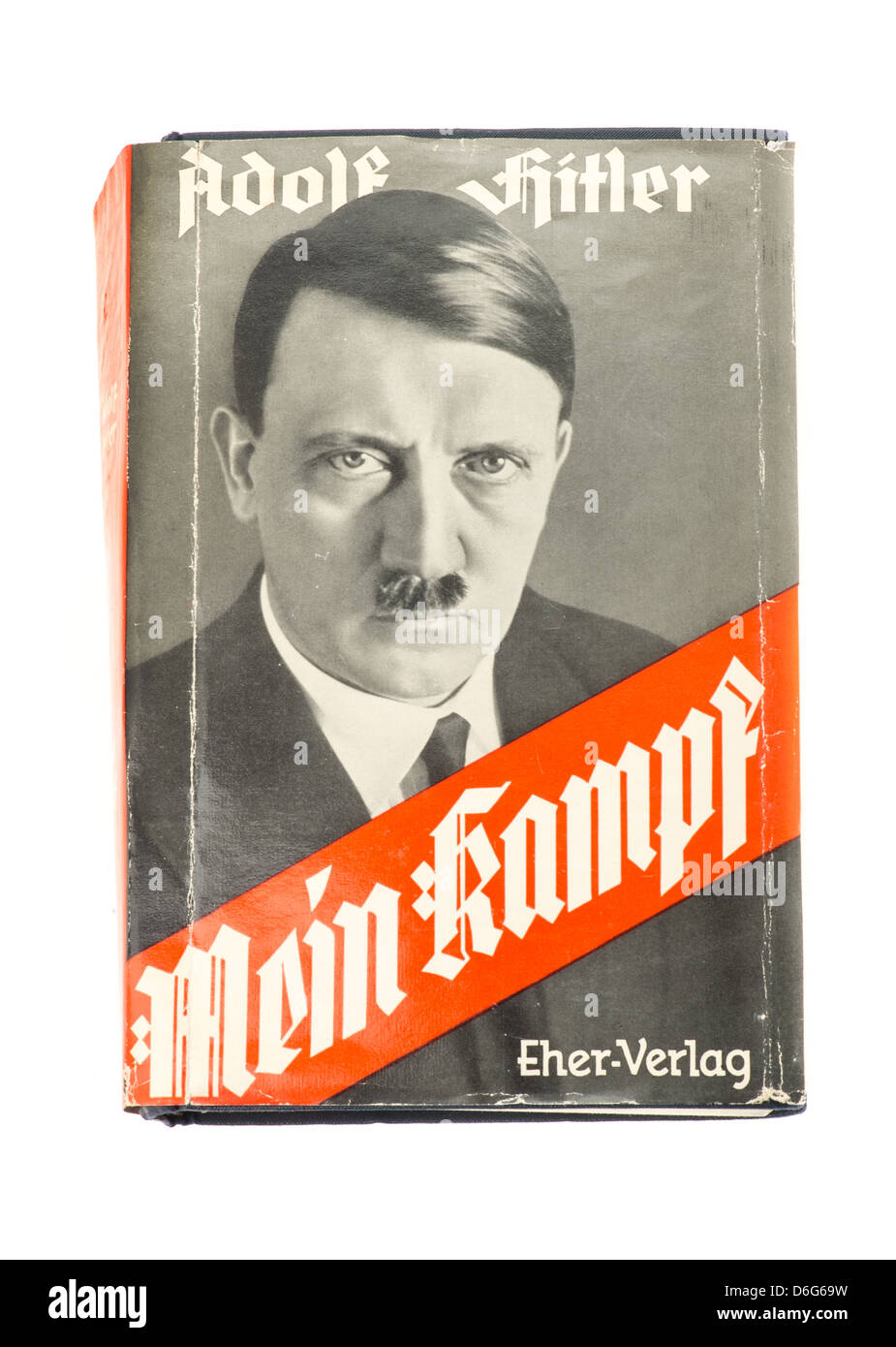 Outside sleeve of the hardback book Mein Kampf by Adolf Hitler - 1939 edition - Stock Image