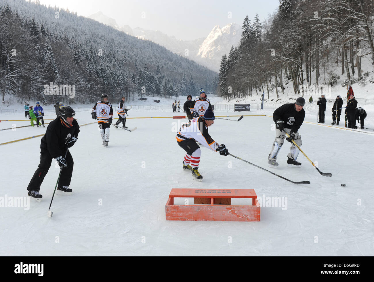 Participants Of The Second Deb Pond Hockey Cup Are Pictured In Action Stock Photo Alamy