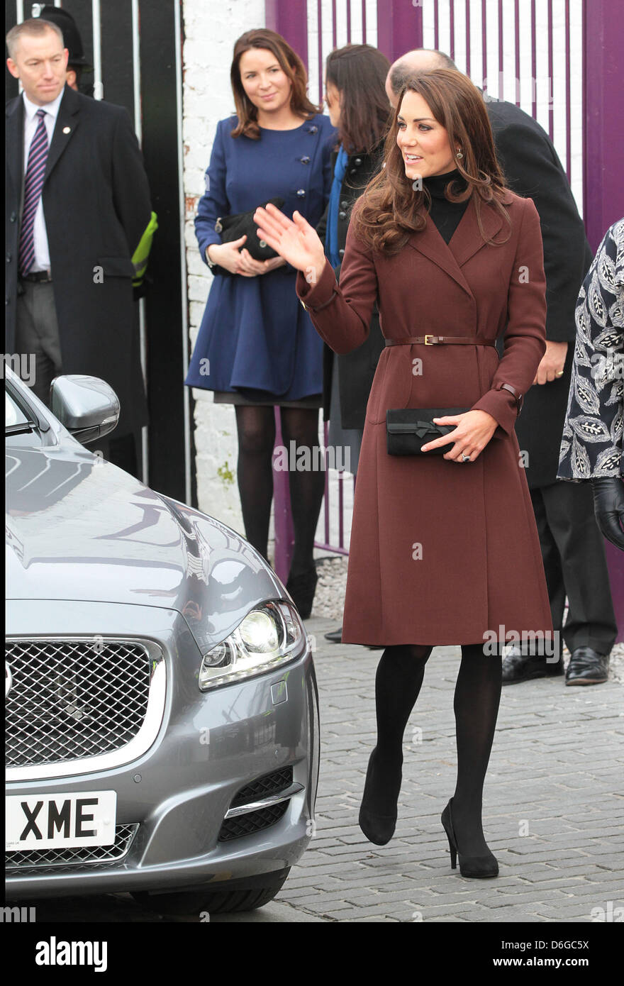 Catherine Duchess of Cambridge arrives at the  bar The Brink in Liverpool, Great Britain, 14 February 2011. The - Stock Image