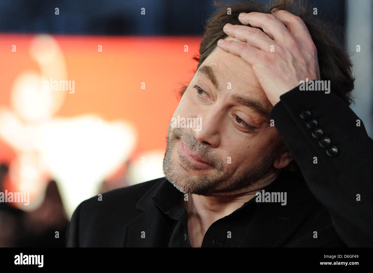 Spanish actor Javier Bardem arrives for the screening of the movie 'Sons Of The Clouds, The Last Colony' ('Hijos Stock Photo