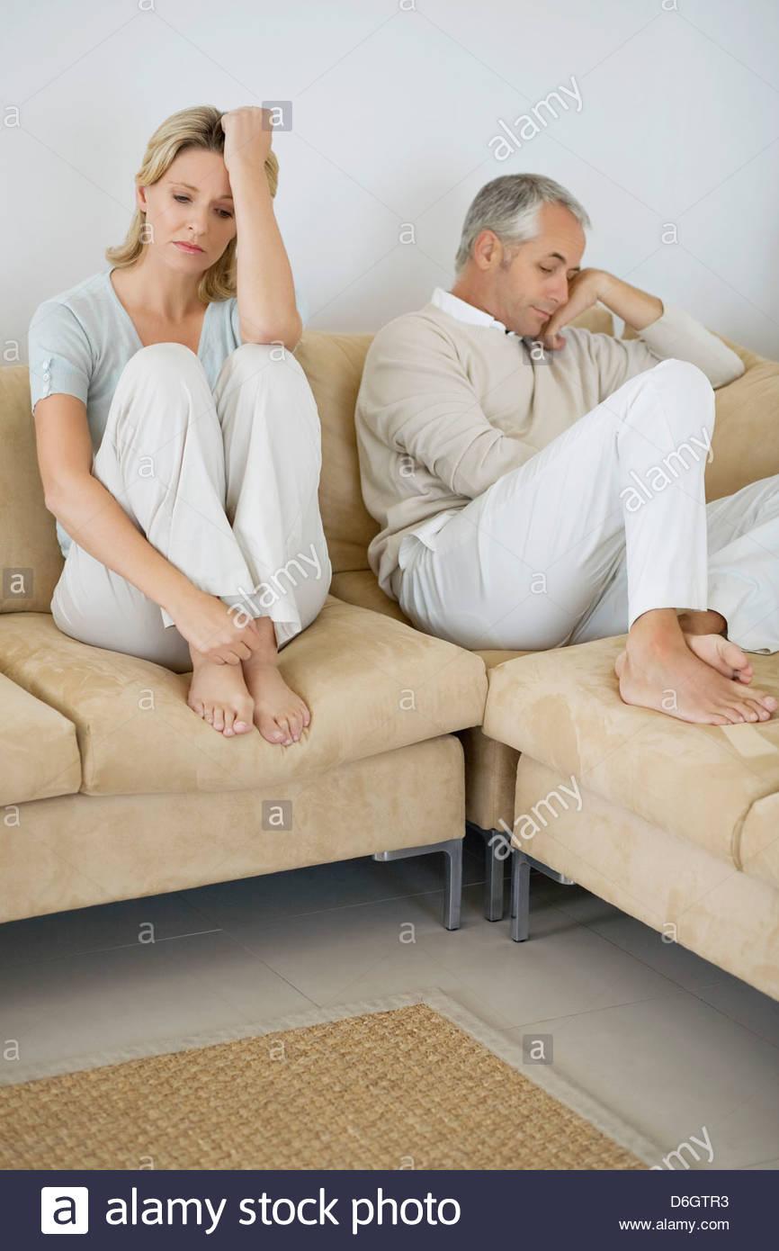 Couple Relationship Problems 40s Stock Photos & Couple