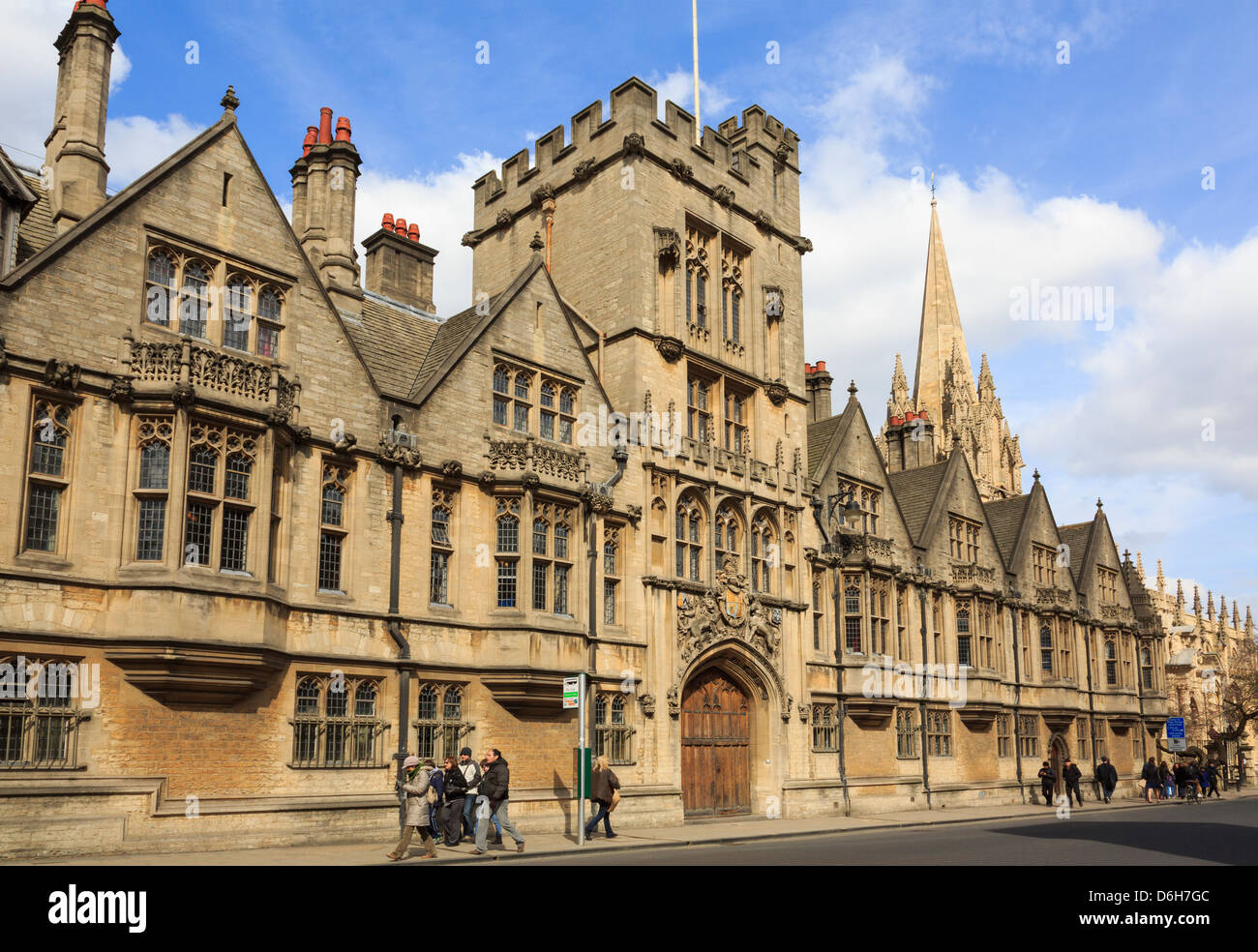 The King's Hall and College of Brasenose (BNC) building designed by Thomas G Jackson. Oxford, Oxfordshire, England, - Stock Image