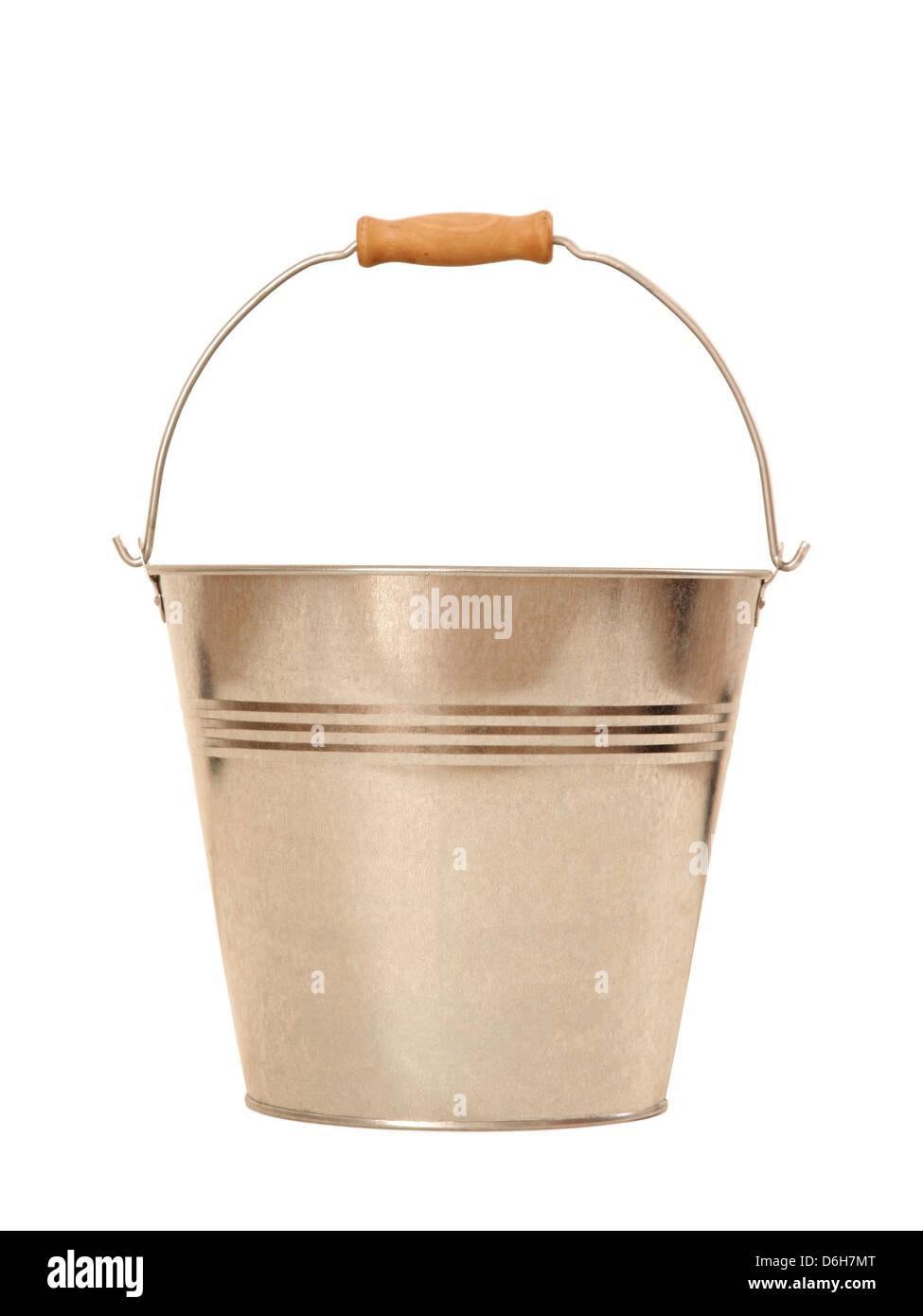 Metal bucket - Stock Image