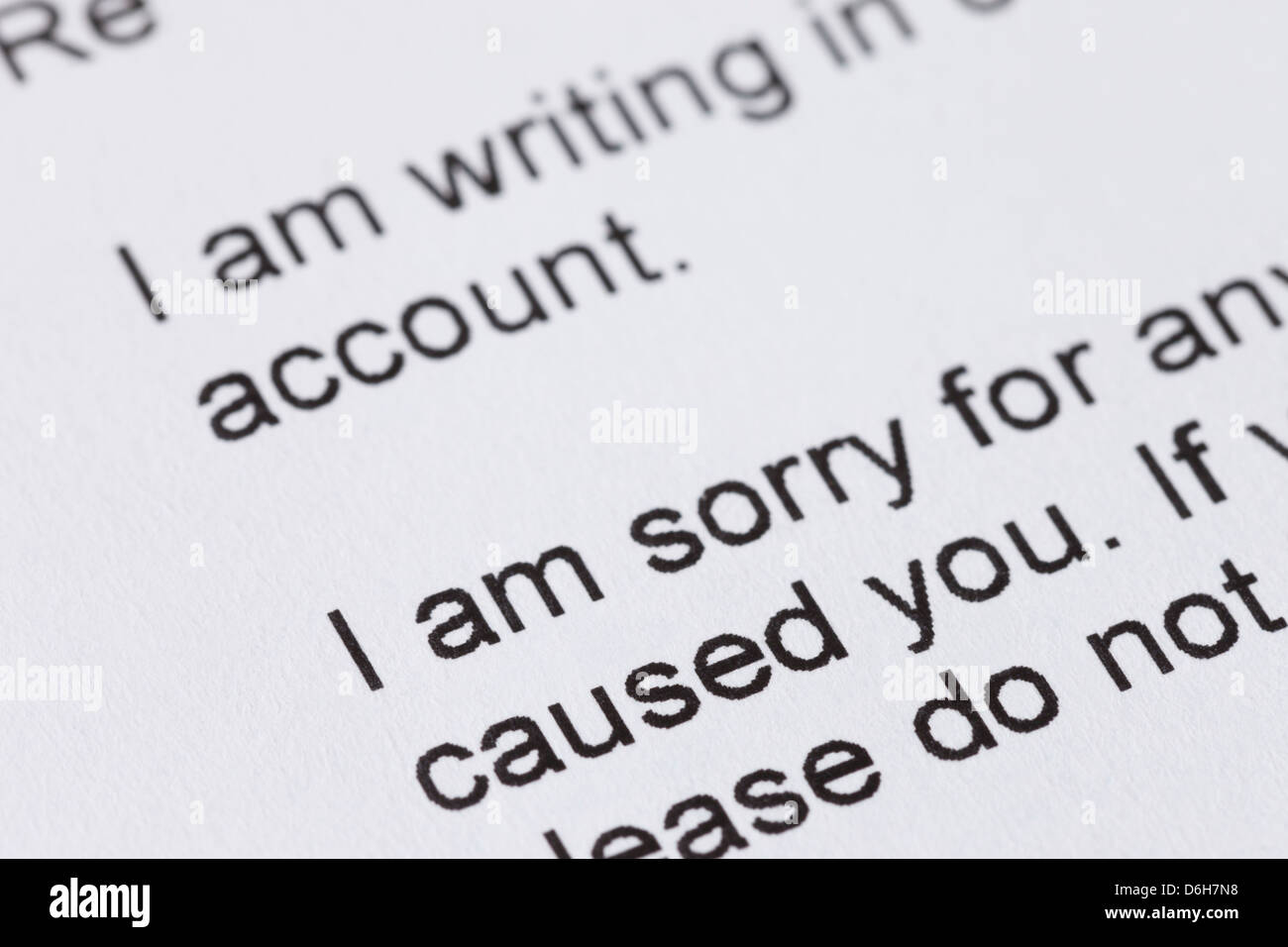 Apology Stock Photos Apology Stock Images Alamy