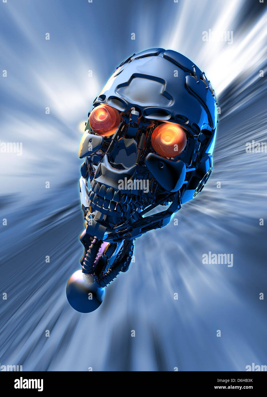 Cyborg, artwork - Stock Image