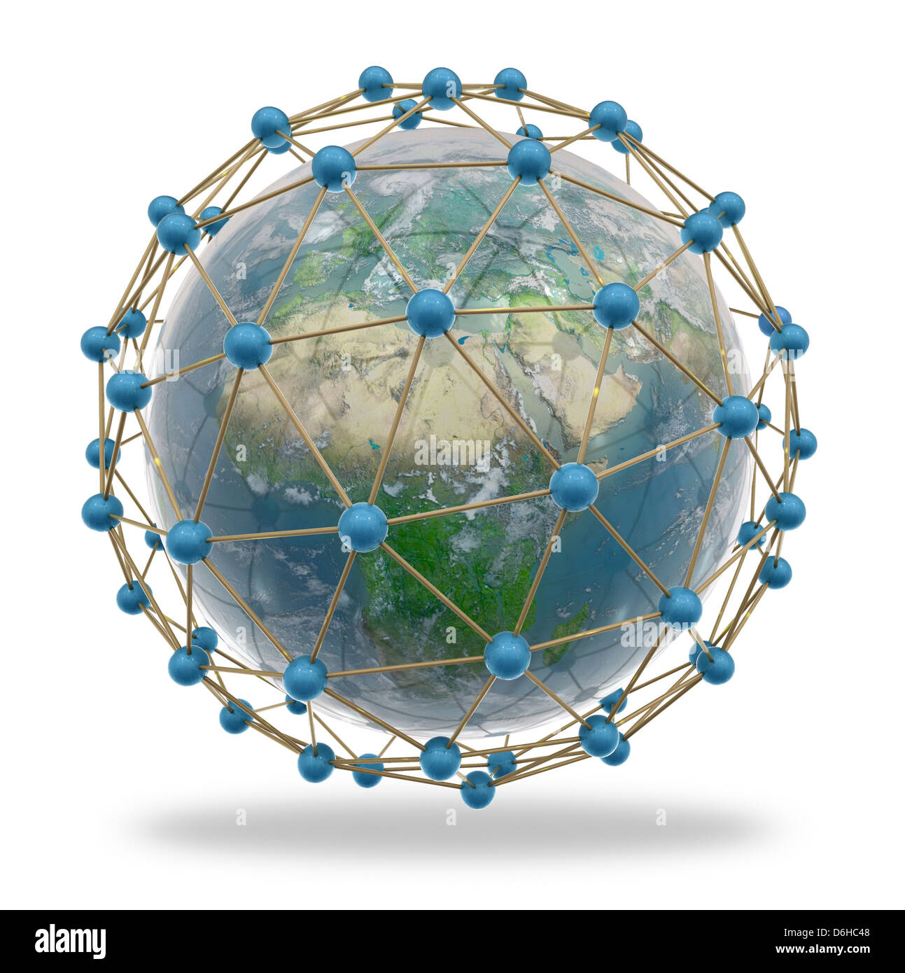 Global connectivity, artwork - Stock Image