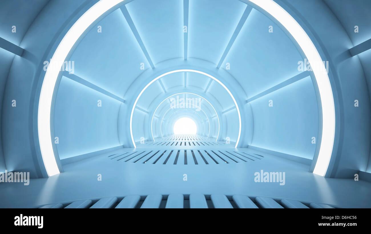 Futuristic corridor, artwork - Stock Image