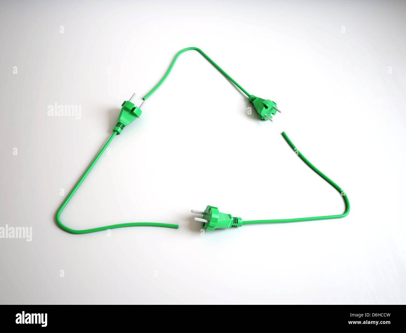 Renewable energy, conceptual artwork - Stock Image