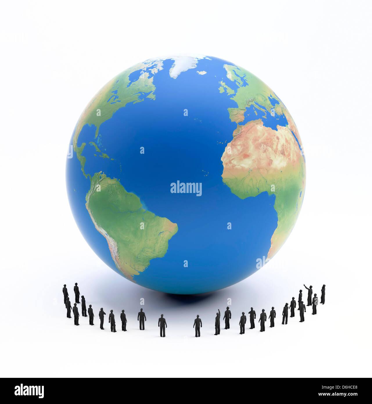Global population, conceptual artwork - Stock Image