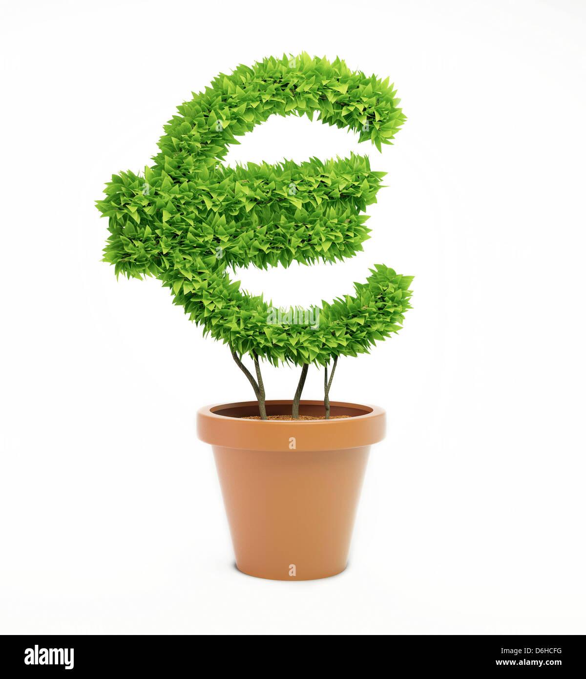 Green economy, conceptual artwork - Stock Image