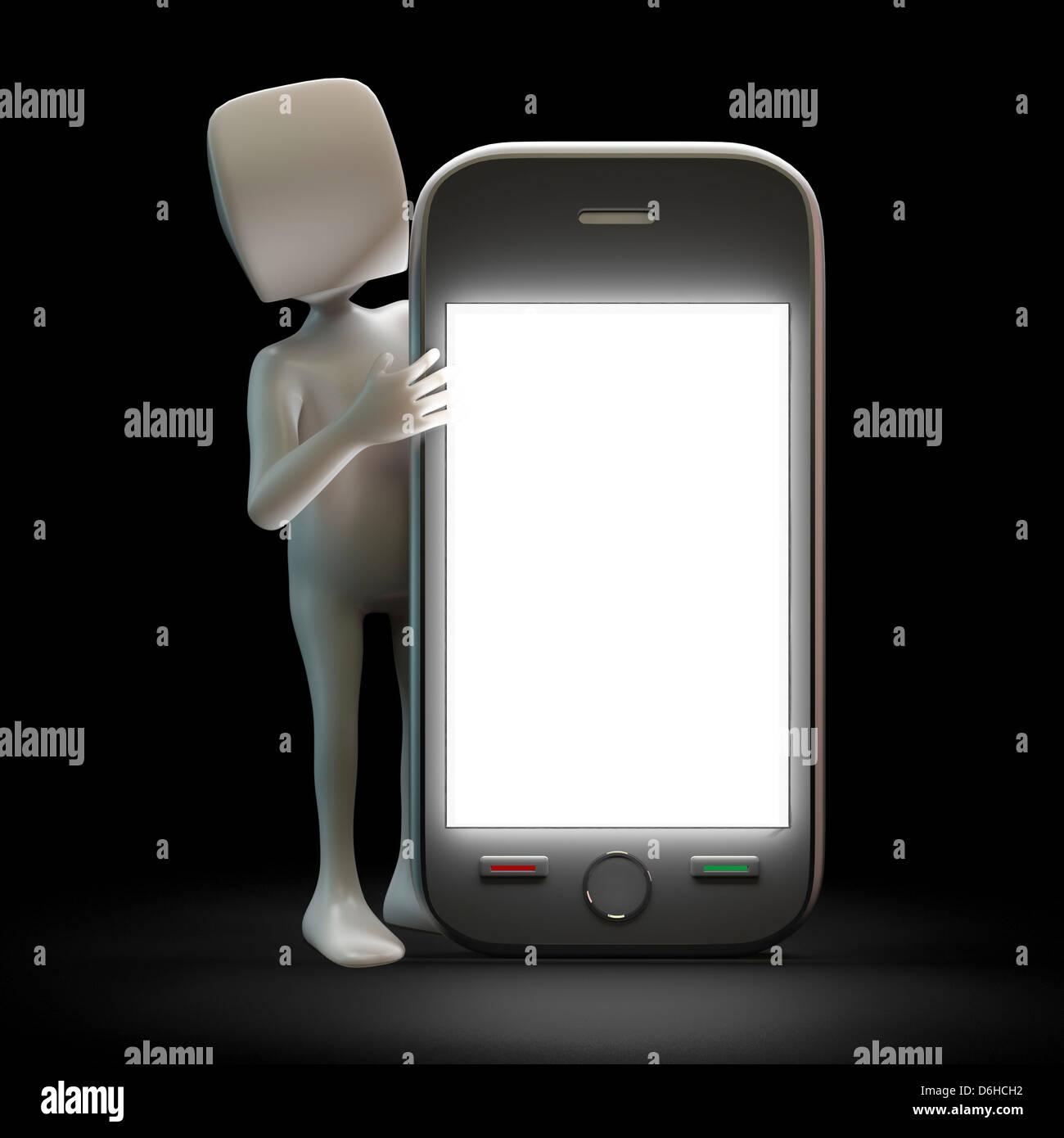 Smartphone, artwork - Stock Image