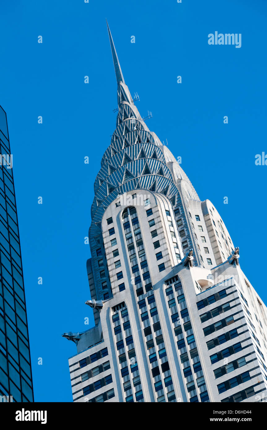 Top of Chrysler building - Stock Image