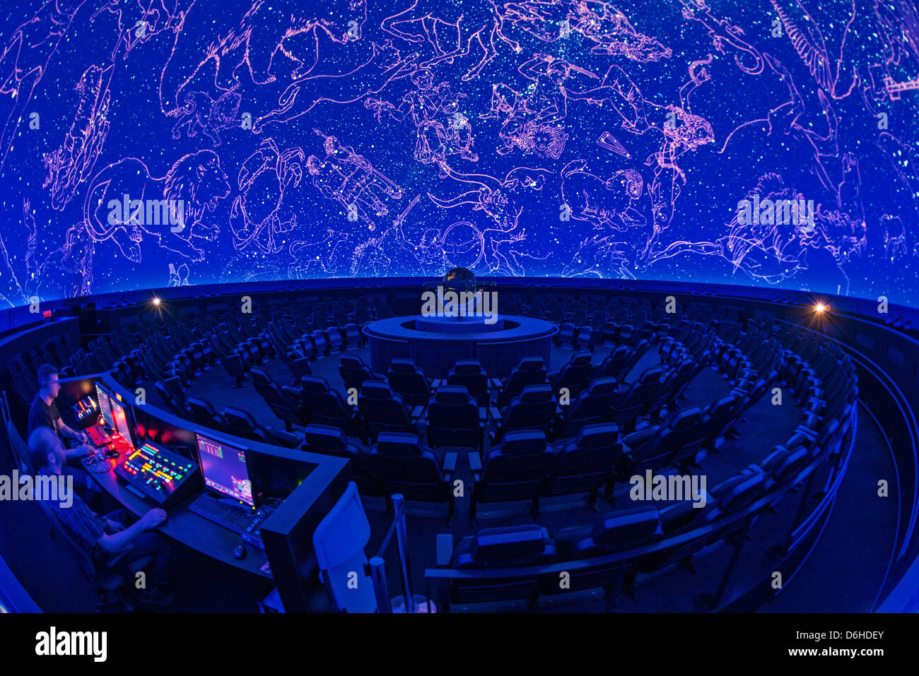 Montreal Planetarium, Olympic park complex, by architects Cardin Ramirez Julien and Aedifica, Canada - Stock Image