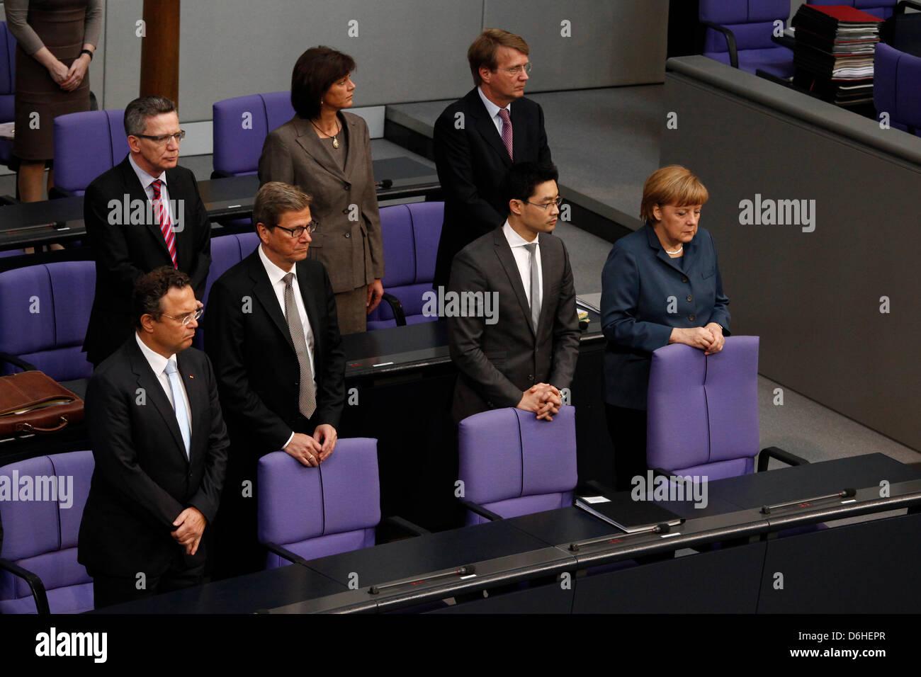 Berlin, Germany. 18th April, 2013. Plenarsitzung des Bundestags vom 18. April 2013 mit Teilnahme von Bundeskanzlerin Stock Photo