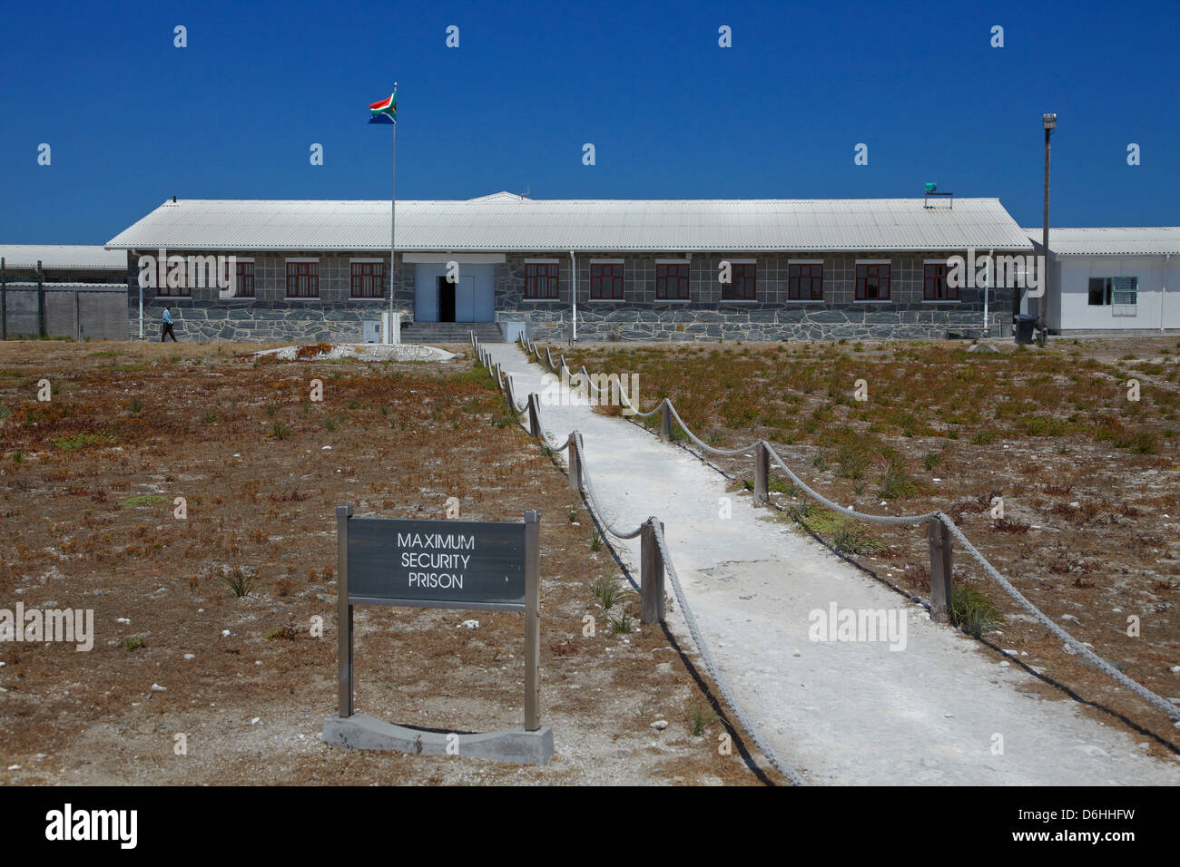 Maximum Security Block, Robben Island Prison, Table Bay, Cape Town, South Africa - Stock Image