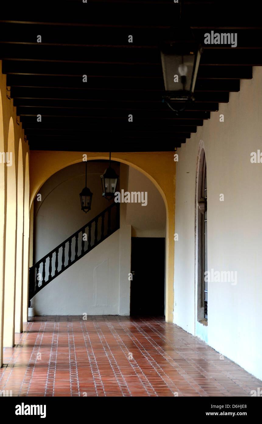 Inside the Ballaja Barracks in Old San Juan, Puerto Rico - Stock Image