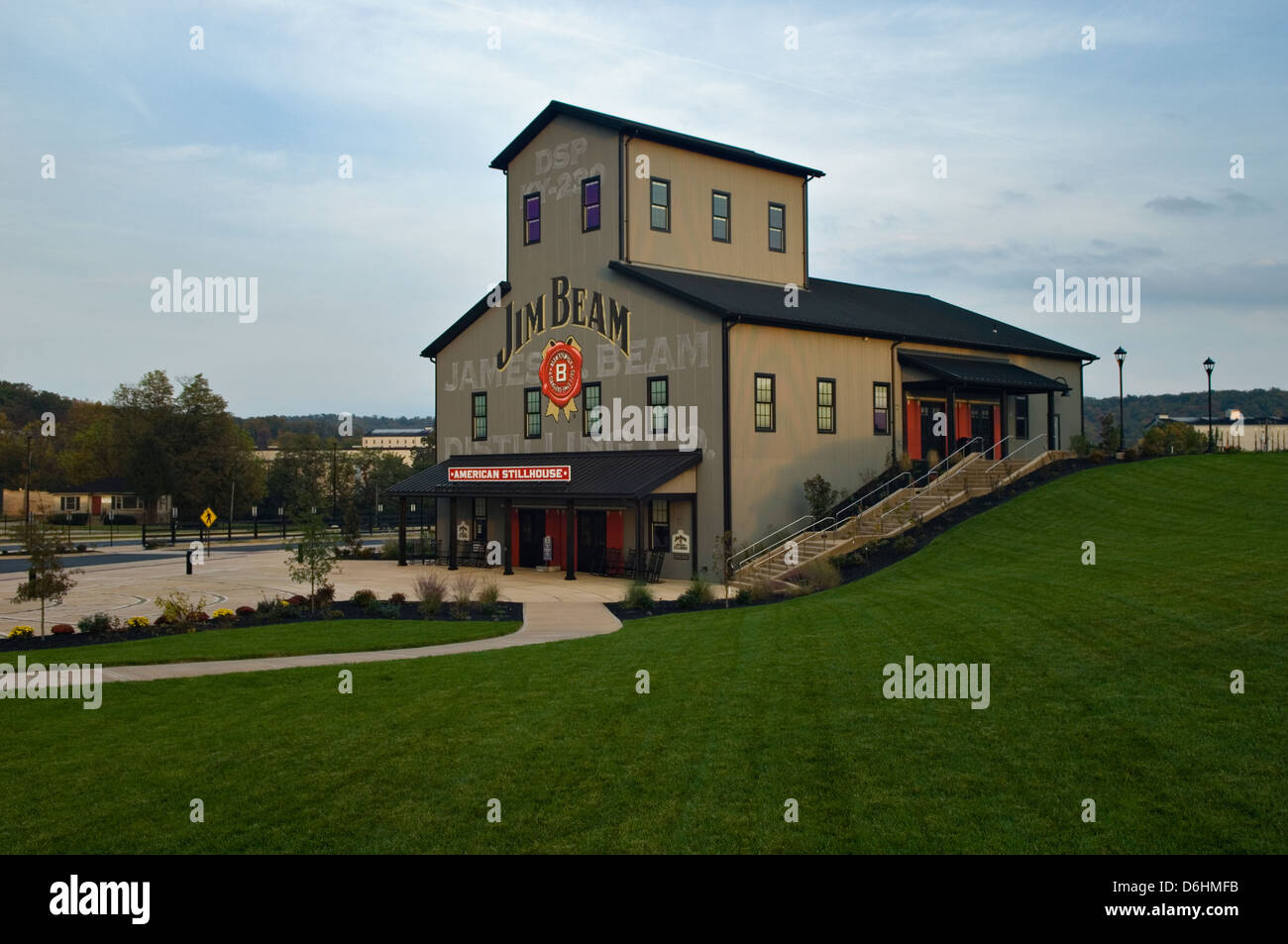 The American Stillhouse at Jim Beam Distillery in Clermont, Kentucky - Stock Image