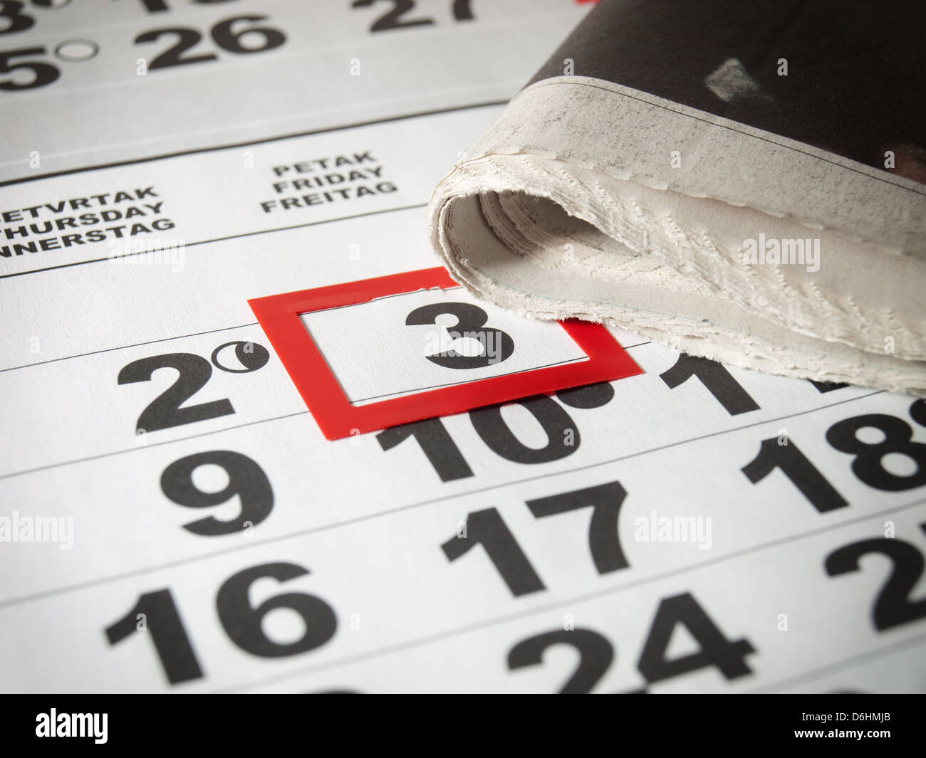 Conceptual image about an international holiday known as World press Day. - Stock Image