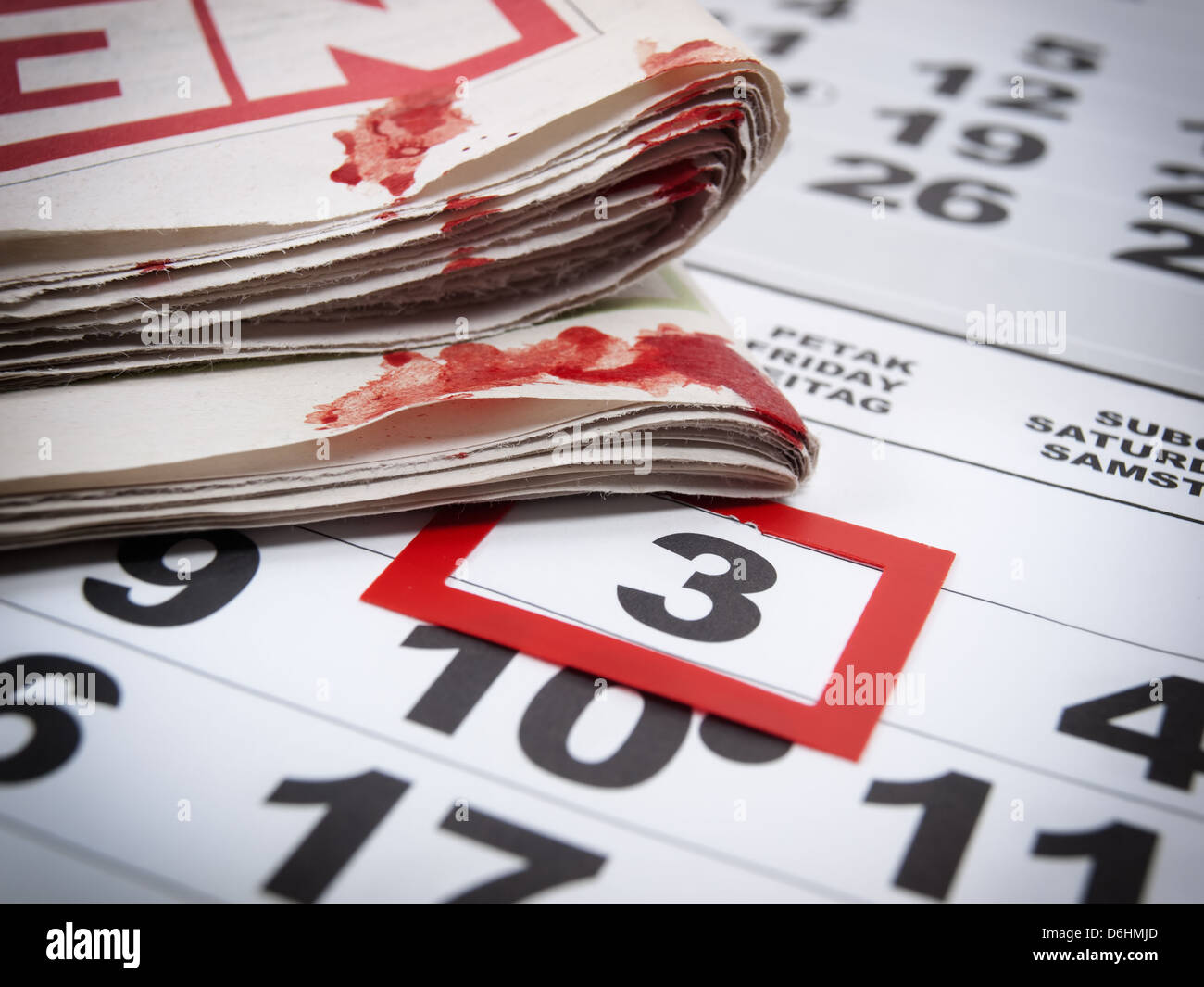 Conceptual image about an international holiday known as World press Day. Stock Photo