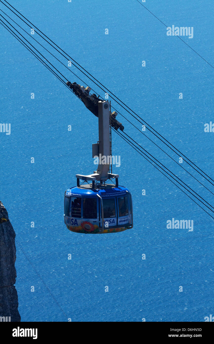 Table Mountain Aerial Cableway, Cape Town, South Africa - Stock Image