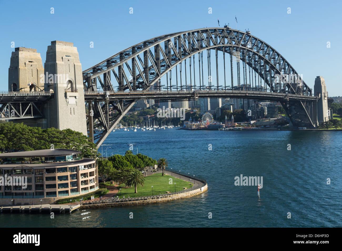 The Sydney Harbour Bridge And The Park Hyatt Sydney Hotel On A Sunny