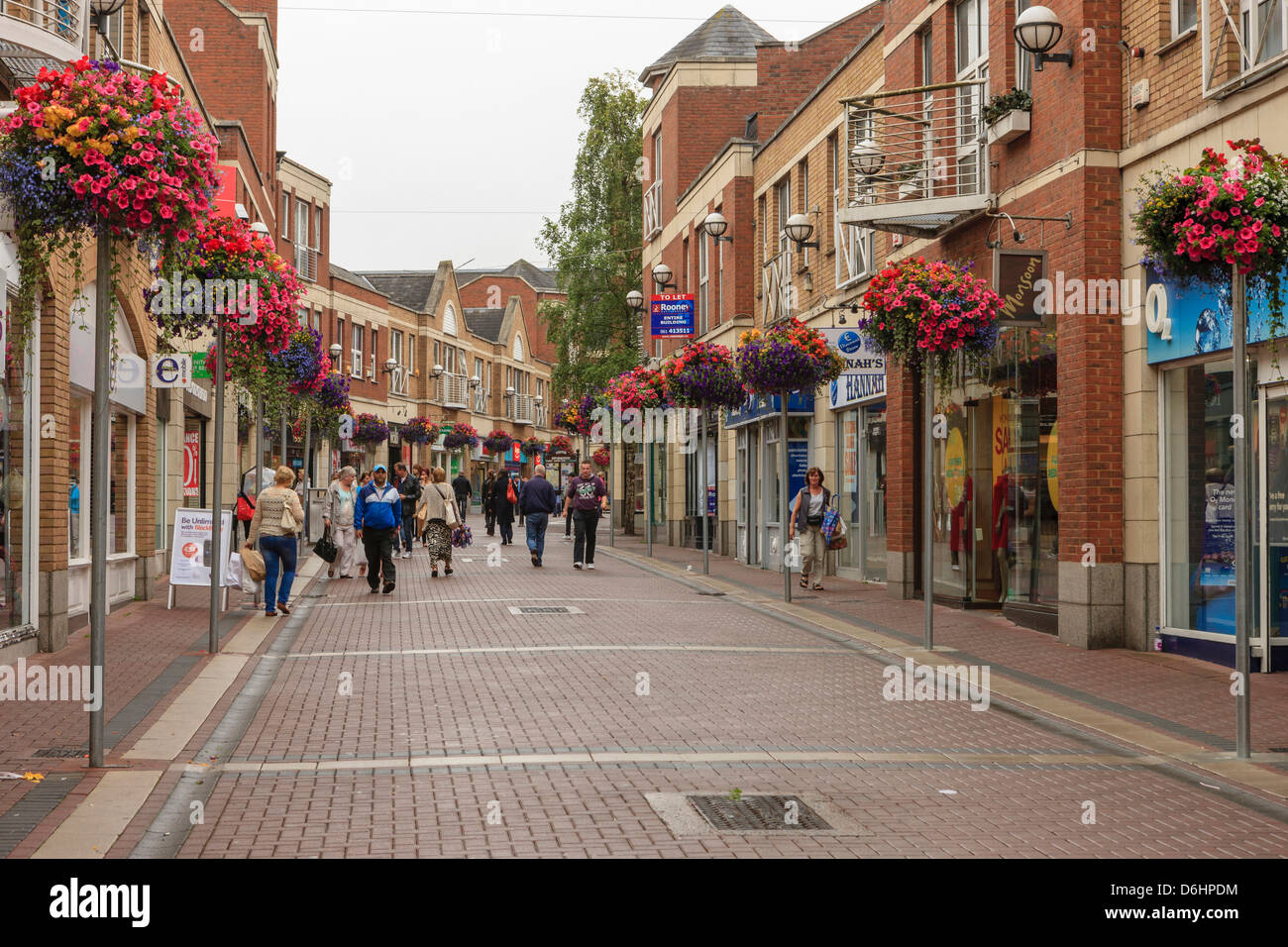 limerick county limerick ireland downtown shopping stock photo