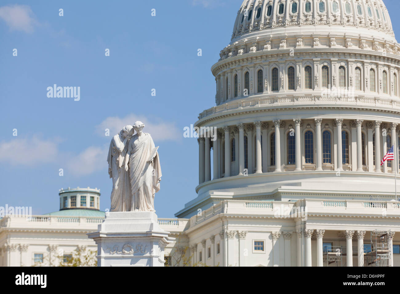 Statue of Grief and History of the Peace Monument at the US Capitol grounds - Washington, DC USA - Stock Image