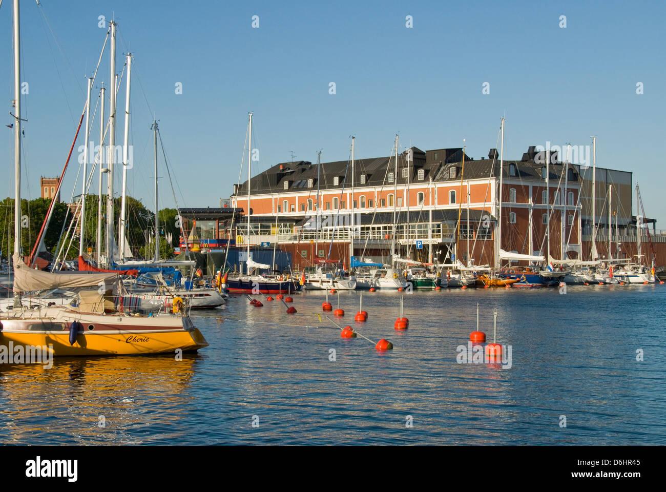 Kalmar Harbour, Kalmar, Sweden - Stock Image