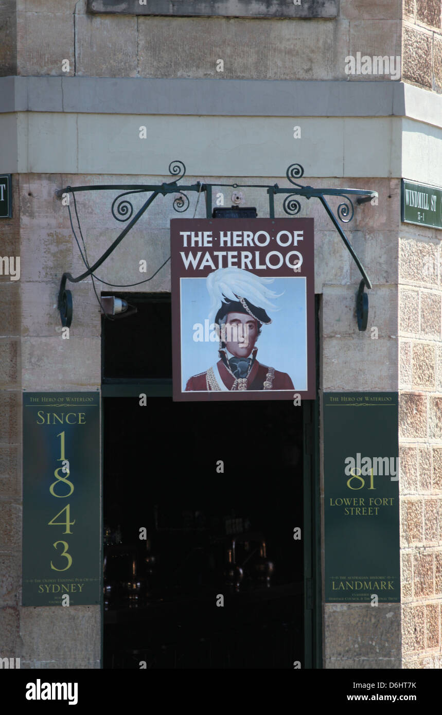 The Hero of Waterloo Public House in Sydney - Stock Image