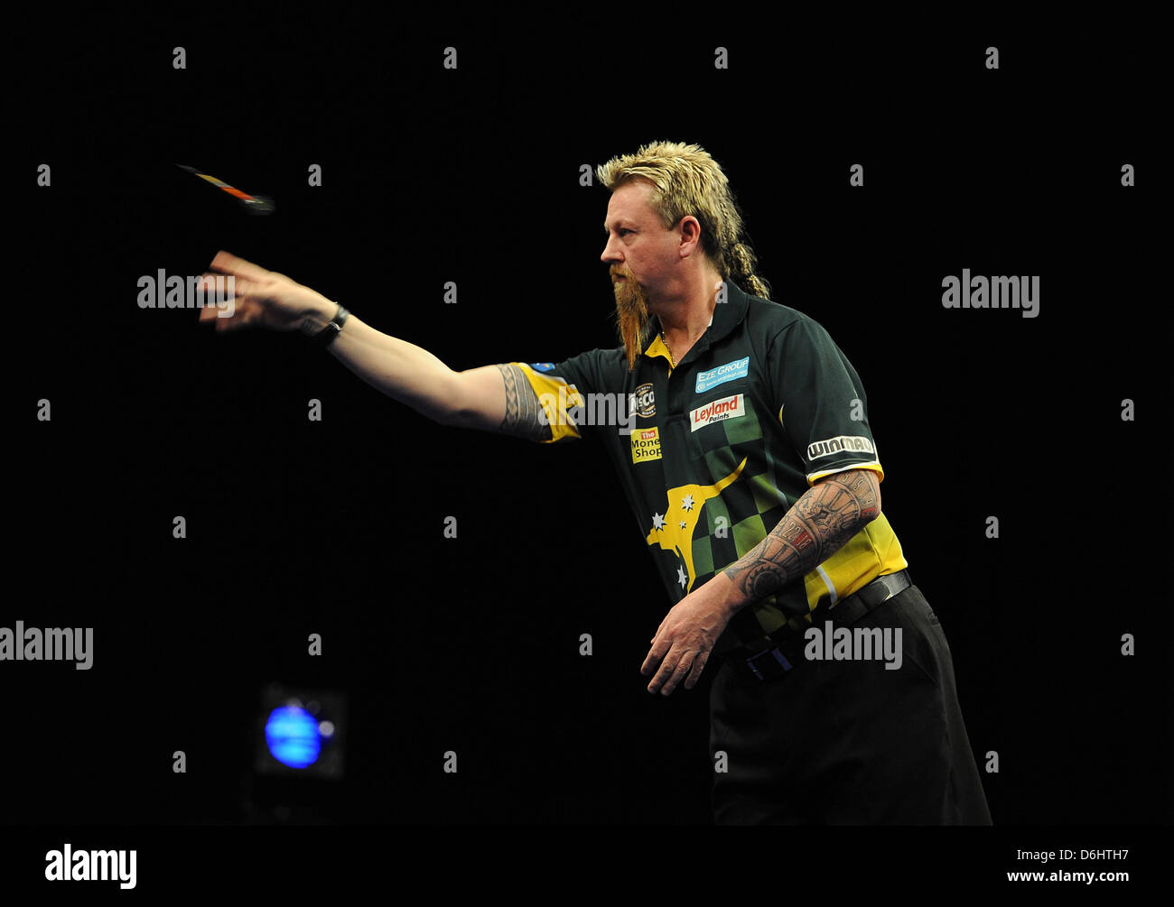 18.04.2013 Dublin, Ireland.  round Eleven of the Premier League Darts from The O2 in Dublin. - Stock Image
