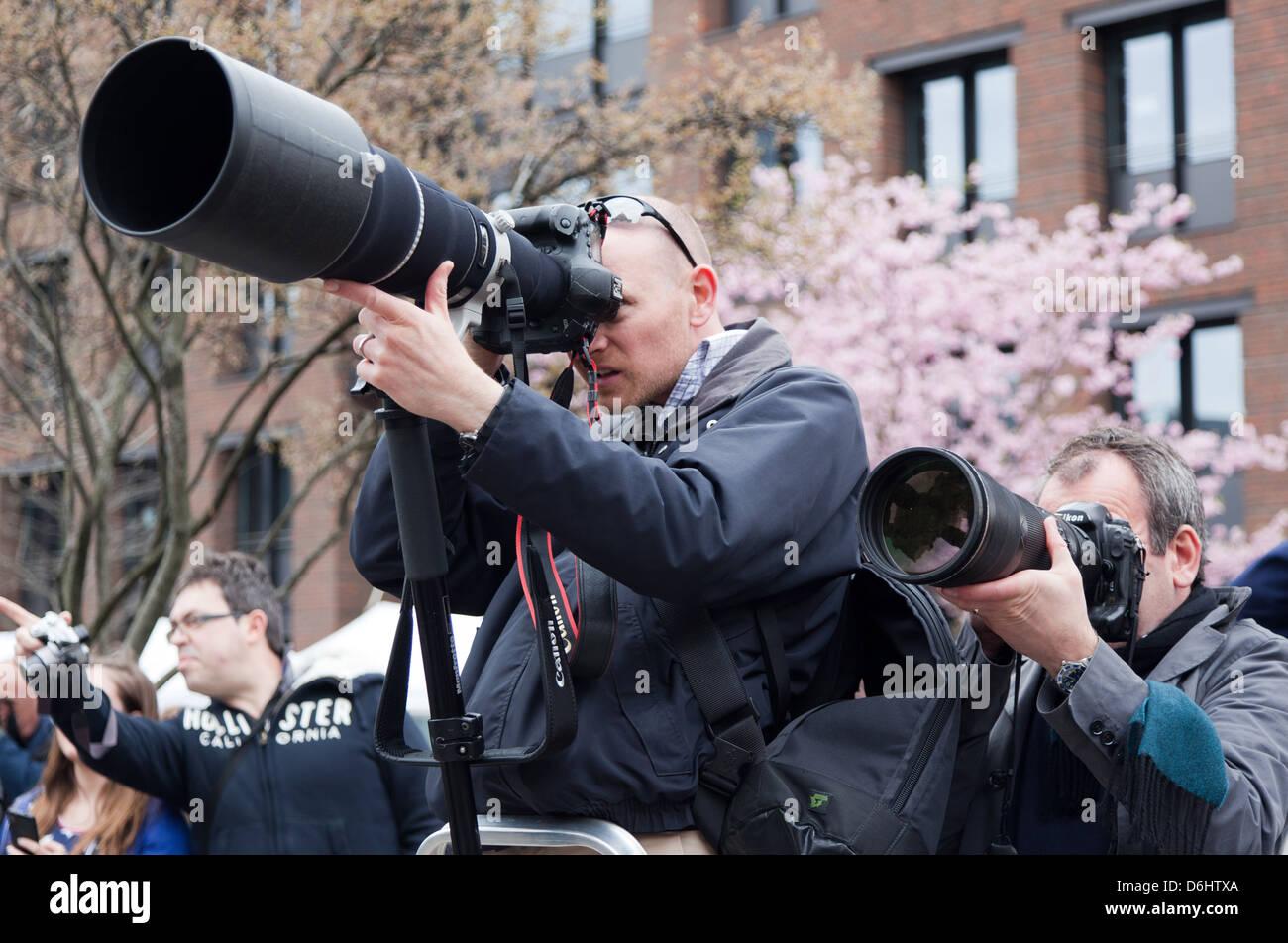 Paparazzi Photographers London UK - Stock Image