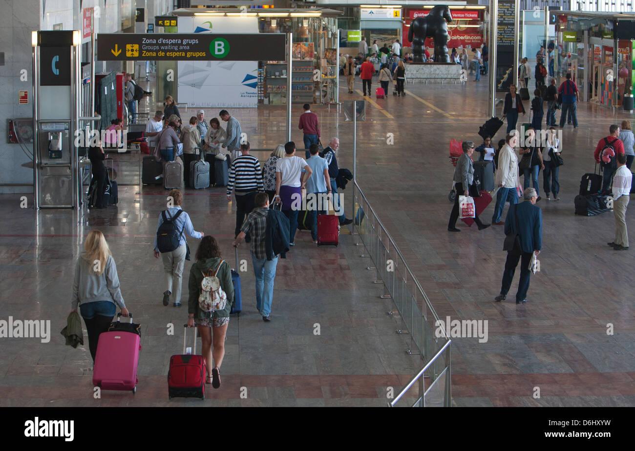 Barcelona, Spain, at Barcelona Airport Terminal 2 - Stock Image