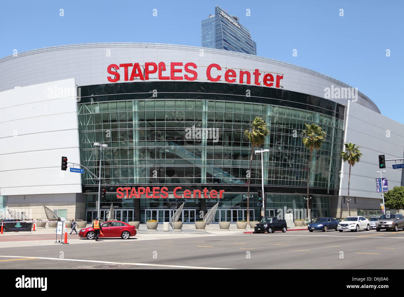 LOS ANGELES, CALIFORNIA, USA - April 16, 2013 - The Staples Center in Downtown Los Angeles on April 16, 2013. - Stock Image