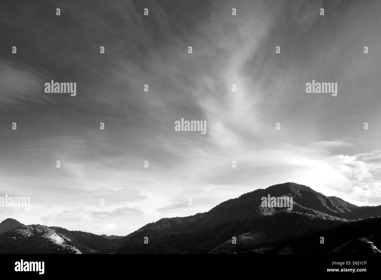 Nice form of the clouds at Chiriquí - Stock Image
