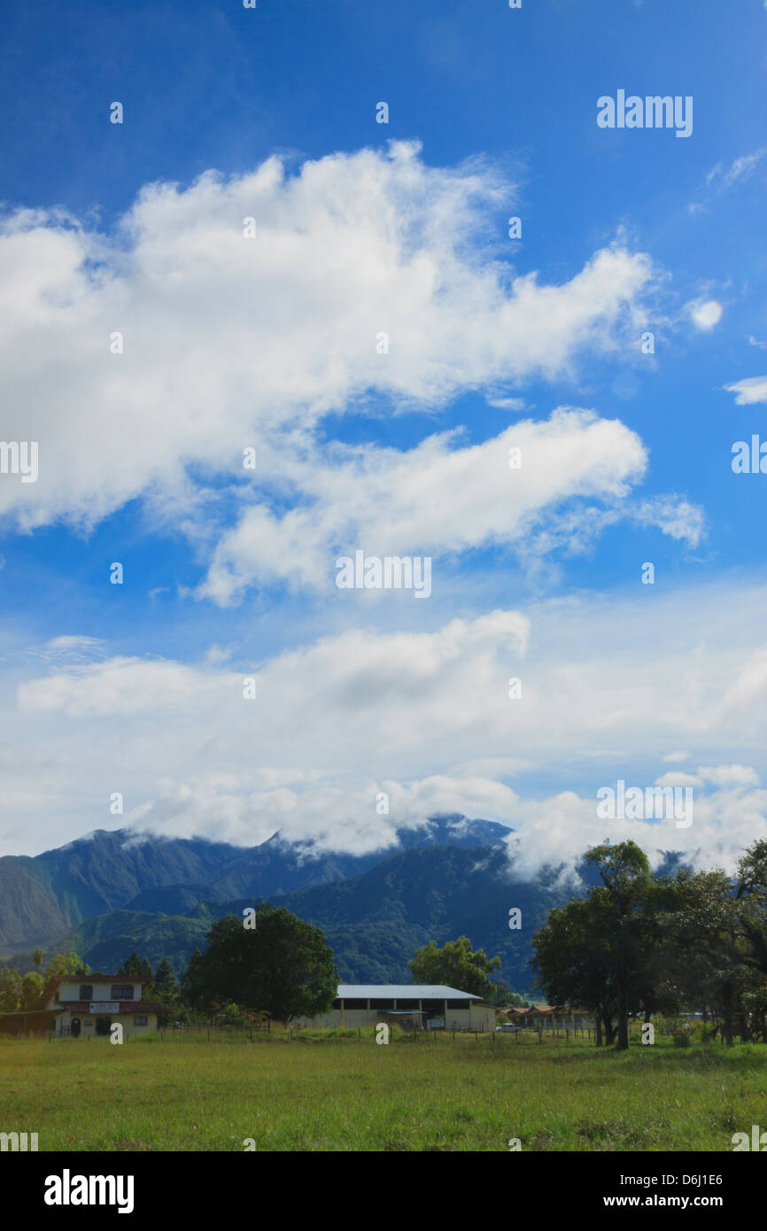 Clouds at Volcán, Chiriquí, Panamá - Stock Image