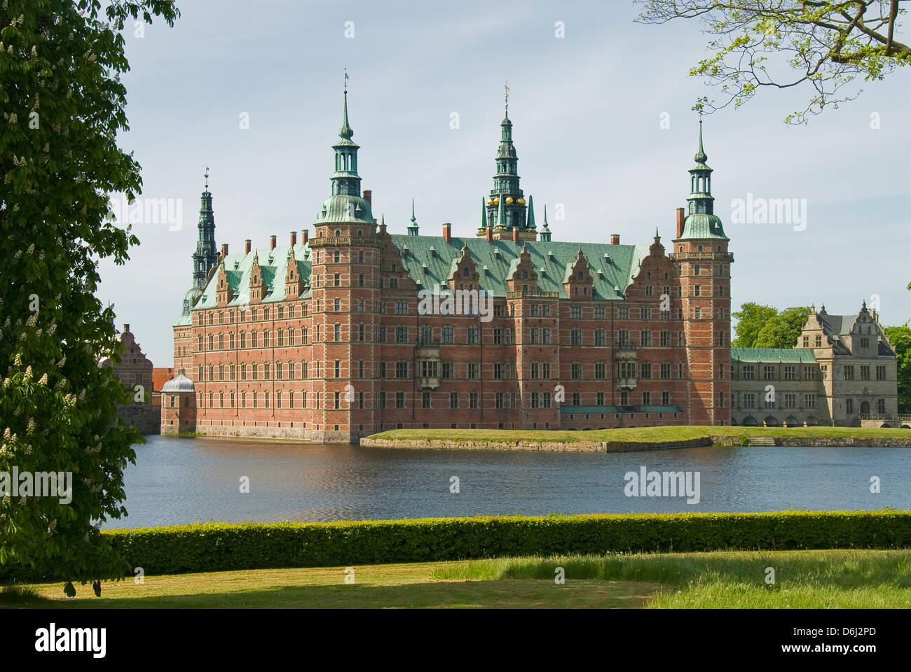 Frederiksborg Slot, Hillerod, Denmark - Stock Image