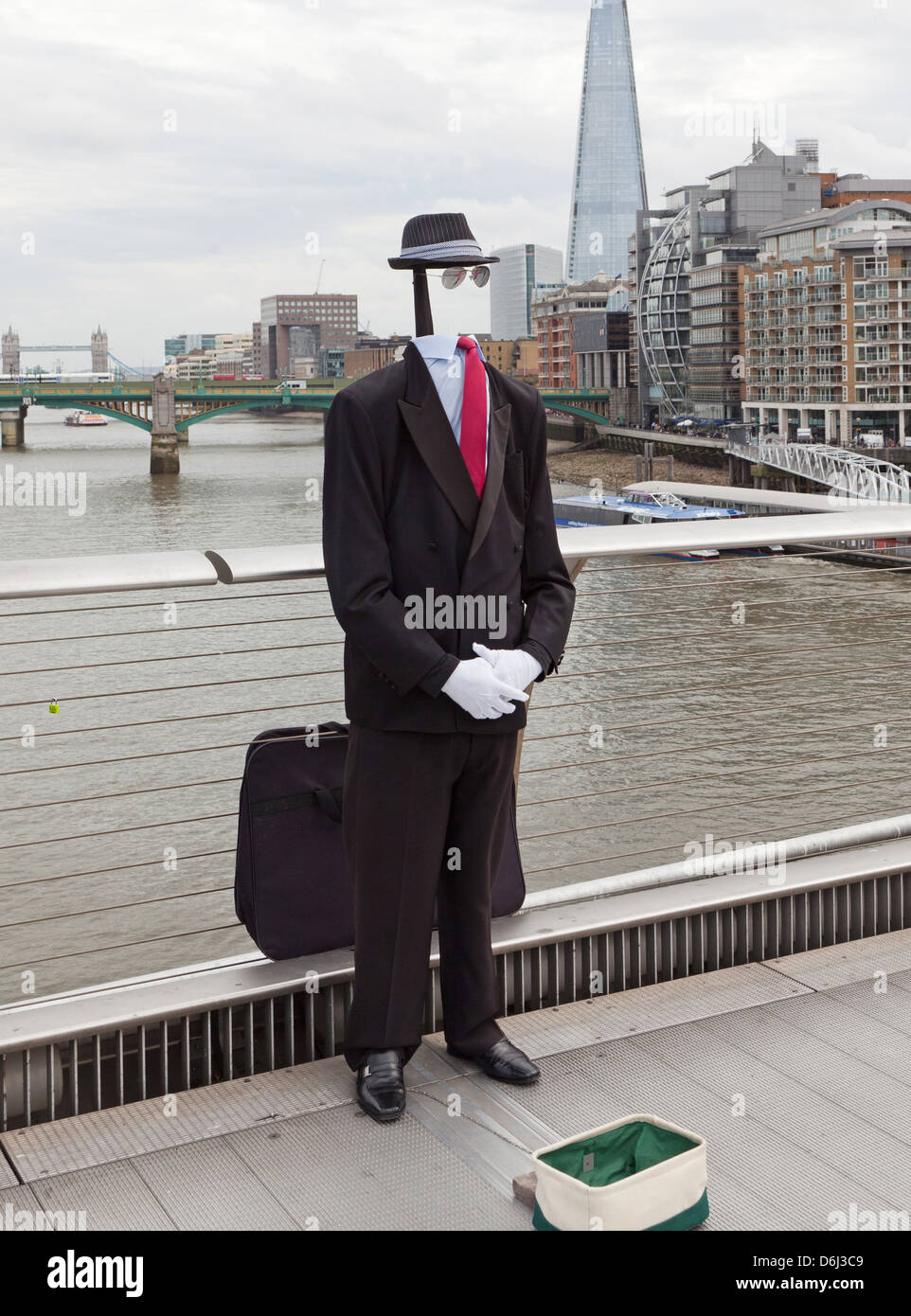 The Invisible Man Human Statue South Bank London UK - Stock Image