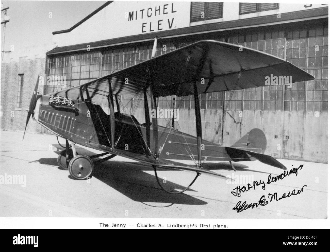 04-00528 Charles Lindbergh's first plane - Stock Image