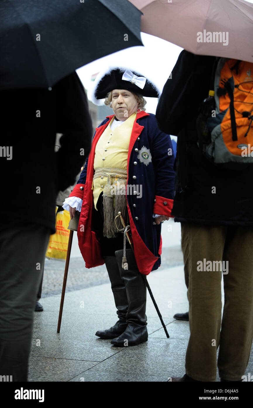 Berlin, Germany, walk with Frederick the Great - Stock Image