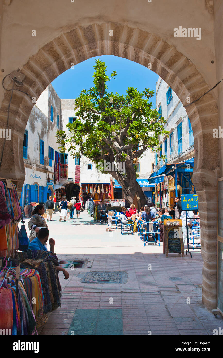 Entrance to the Essaouira's old Medina, formerly Mogador, UNESCO World Heritage Site, Morocco, North Africa, Africa Stock Photo