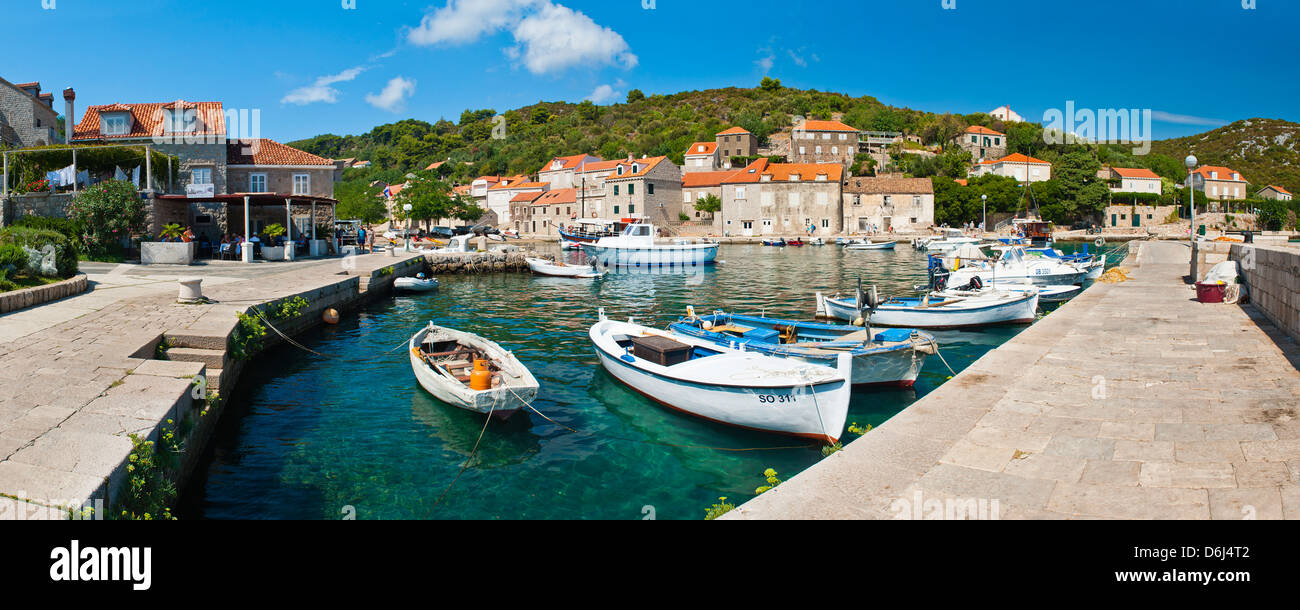 Sipan Island (Sipano), Elaphiti Islands, Dalmatian Coast, Adriatic, Croatia, Europe - Stock Image