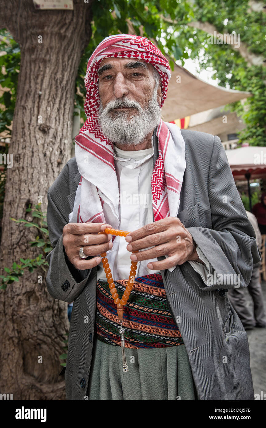 Portrait of a Turkish man, Urfa, Anatolia, Eastern Turkey, Asia Minor, Eurasia - Stock Image