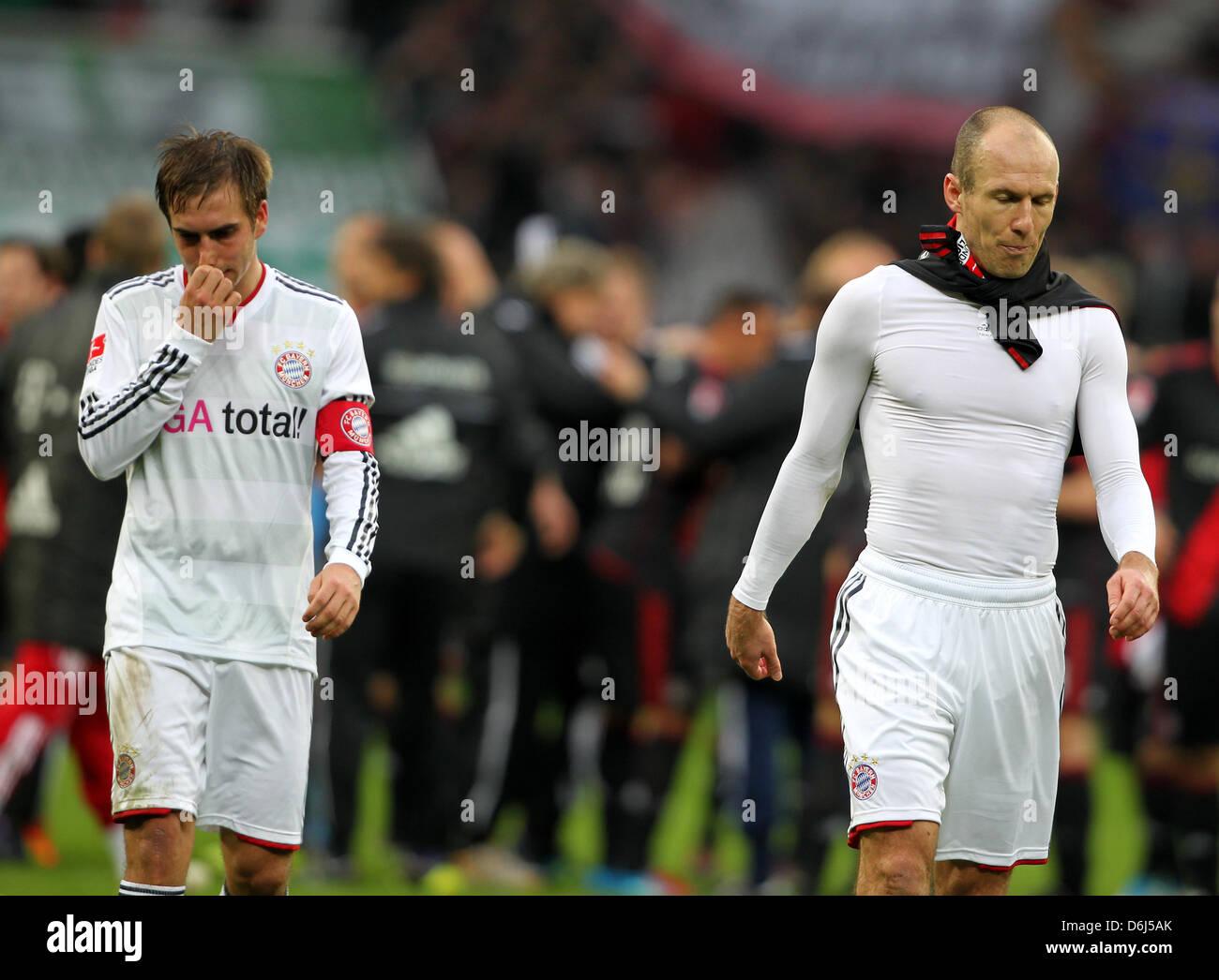 Fußball Bundesliga, 24. Spieltag,  Bayer 04 Leverkusen - Bayern München am Samstag (03.03.2012) in der - Stock Image